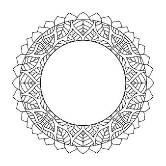 Marco redondeado. fondo abstracto para decoración de portada. marco de círculo ornamental