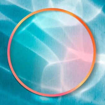 Marco redondo sobre fondo abstracto