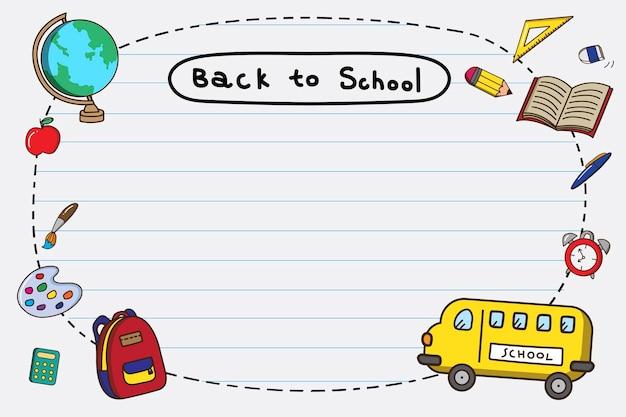 Marco de regreso a la escuela en blanco