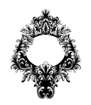 Marco rococó de espejo barroco.