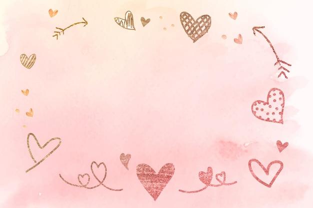 Marco romántico de san valentín
