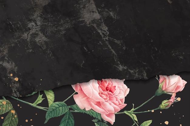 Marco rosa rosa sobre un fondo con textura de mármol