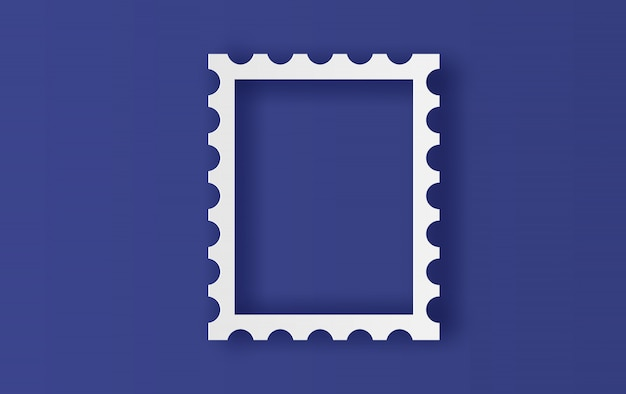 Marco de sellos postales en blanco