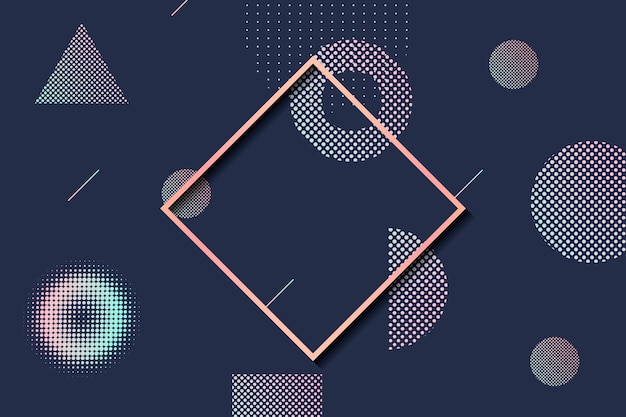 Marco de semitono de forma geométrica