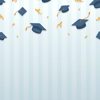 Marco de sombreros de graduación