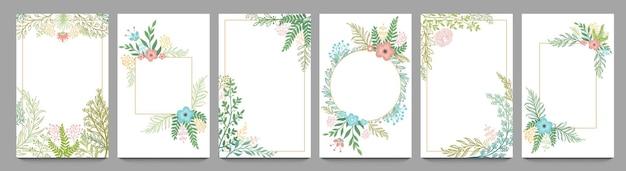 Marco de tarjeta de adorno floral