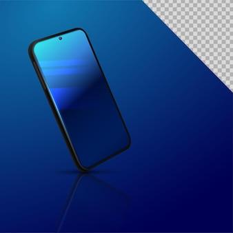Marco de teléfono inteligente sin pantalla en blanco