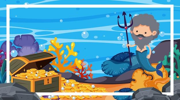 Marco con tema submarino