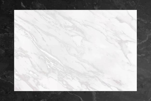 Marco con textura de mármol en blanco