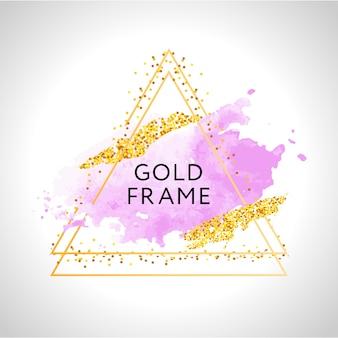 Marco de triángulo dorado