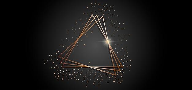 Marco de triángulos dorados