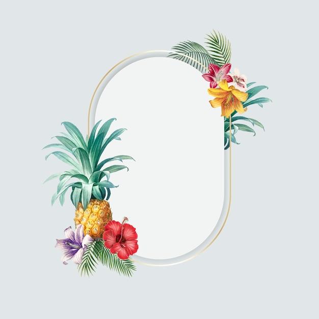 Marco tropical en blanco