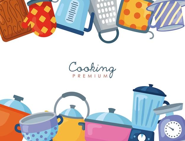 Marco de utensilios de cocina