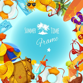 Marco de vacaciones de verano