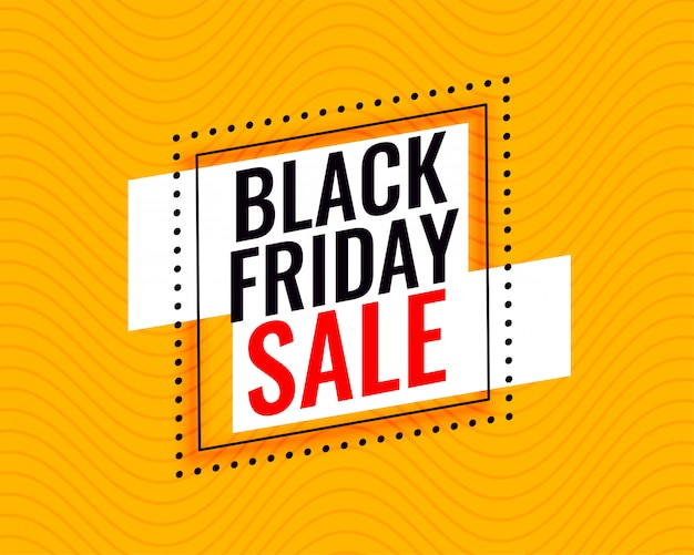 Marco de venta de viernes negro elegante sobre fondo amarillo