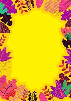 Marco de verano tono amarillo