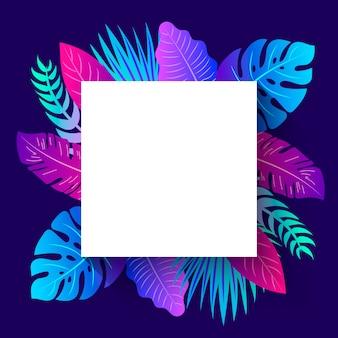 Marco de verano tropical. publicación en instagram