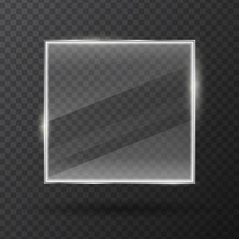 Marco de vidrio aislado