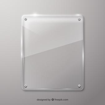 Marco de vidrio en estilo realista