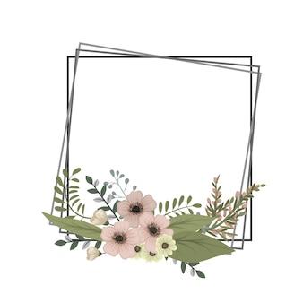 Marco vintage con flores