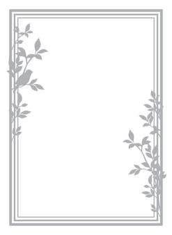 Marco vintage para texto con patrón de silueta vintage. plantilla para papel con membrete, carta, postal. mensaje de amor. ilustración vectorial.