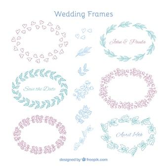 Marcos de boda bonitos ornamentales