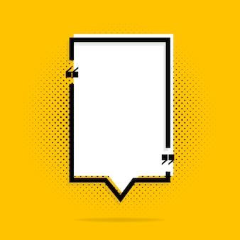 Marcos de cita en amarillo
