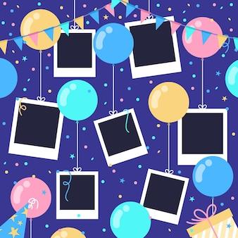 Marcos de collage de cumpleaños planos
