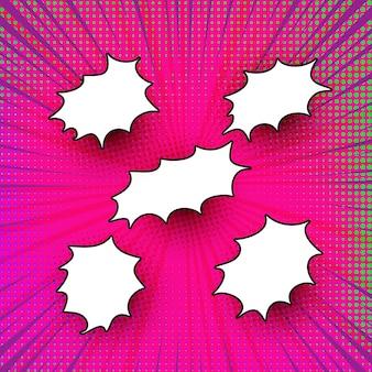 Marcos cómicos coloridos modernos abstractos