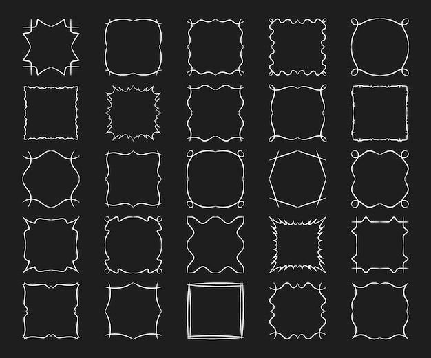 Marcos cuadrados establecen elementos abstractos de diseño moderno