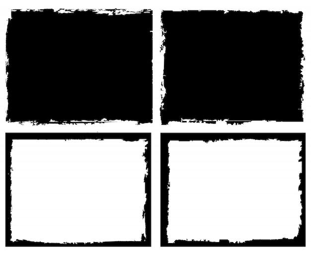 Marcos cuadrados de grunge