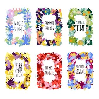 Marcos florales abstractos