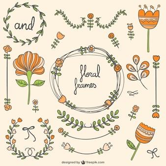 Marcos florales y adornos