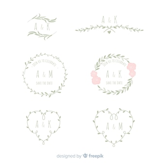Marcos florales de bodas