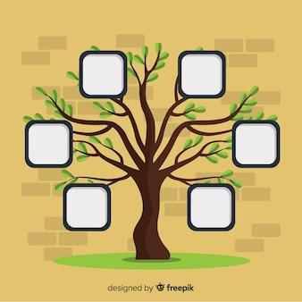 Marcos de fotos en árbol