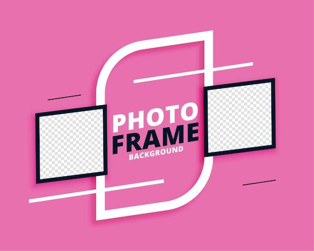 Marcos de fotos bonito fondo abstracto vector gratuito