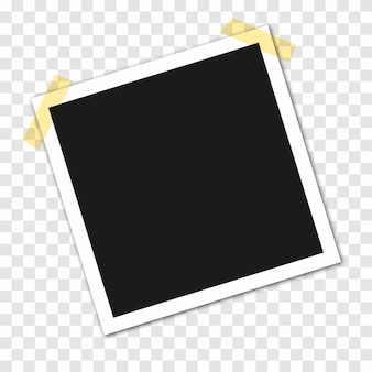 Marcos de fotos en cinta adhesiva, alfileres