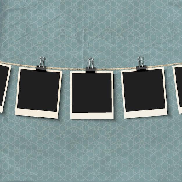 Marcos de fotos en cuerda