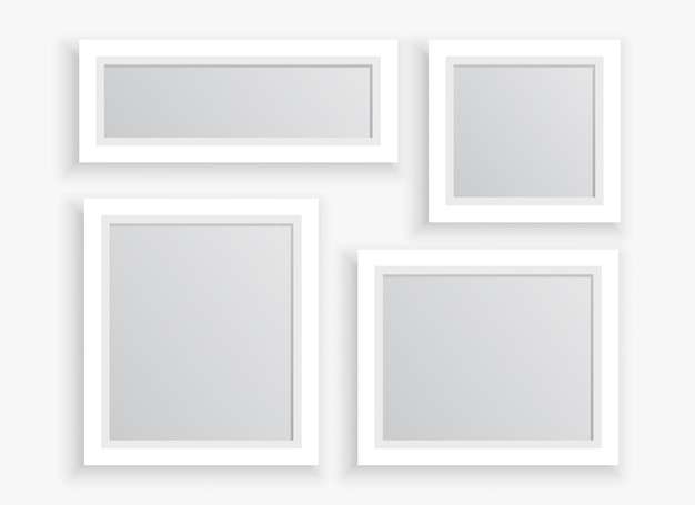 Marcos de fotos en diferentes tamaños. vector gratuito