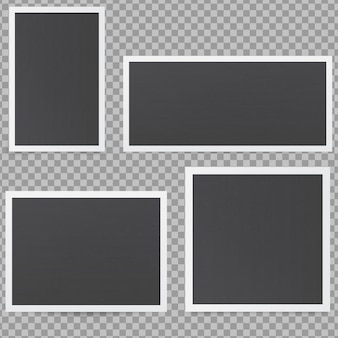 Marcos de fotos negros.