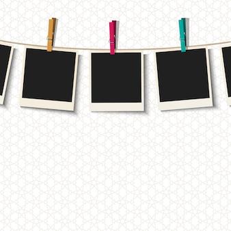 Marcos de fotos con pinzas para la ropa