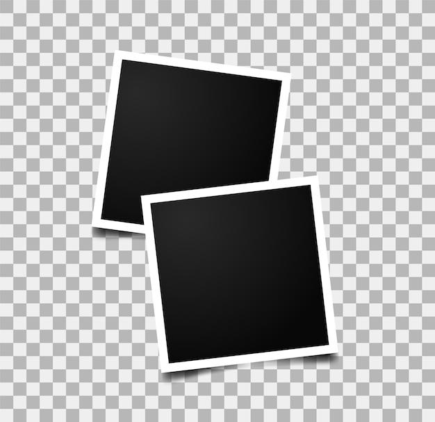 Marcos de fotos realistas. imágenes en pared. marco de fotos vacío.