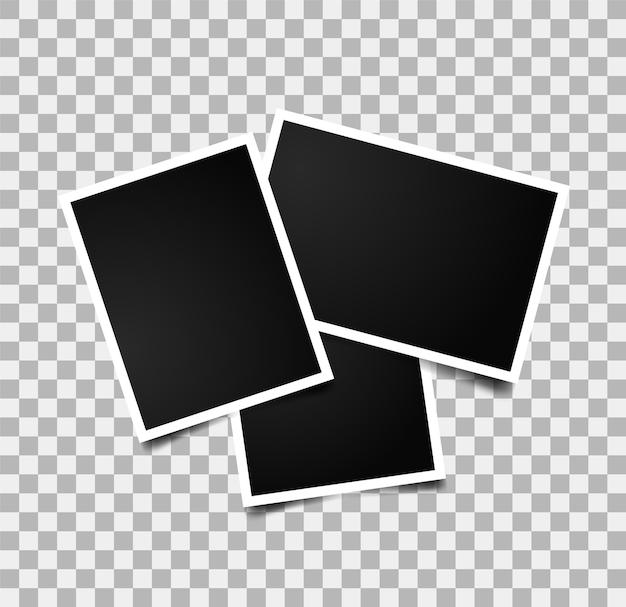 Marcos de fotos vacíos. objeto gráfico.