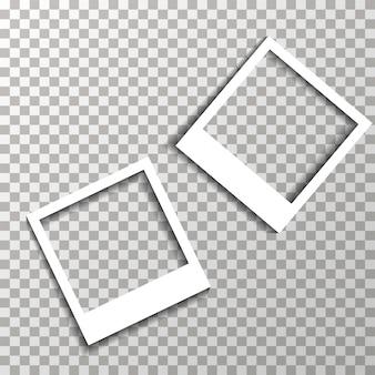 Marcos de fotos en el vector de fondo transparente.