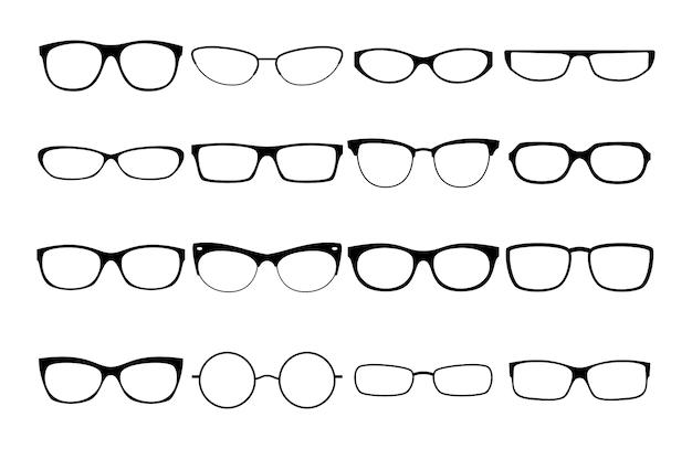 Marcos de gafas de vector