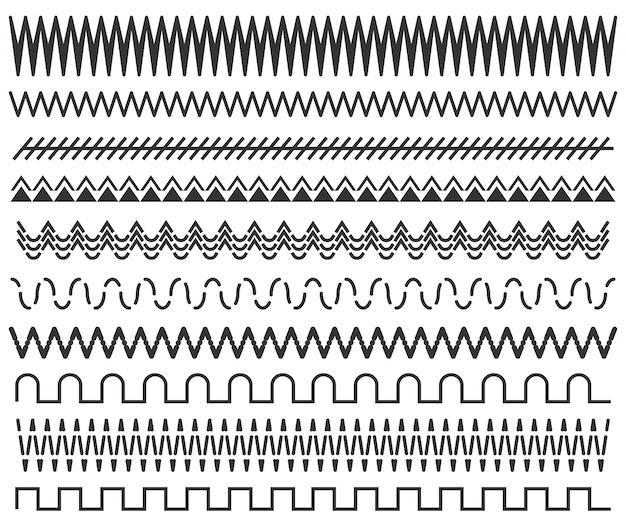 Marcos de líneas dibujadas a mano, patrón de doodle sin costuras.