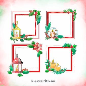 Marcos navidad dibujados a mano