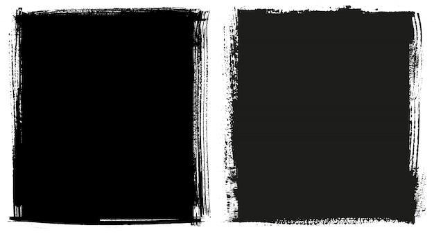 Marcos negros de grunge