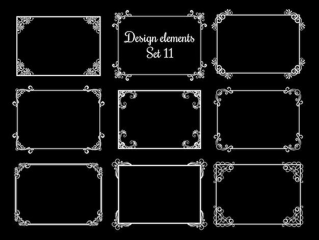 Marcos ornamentales decorativos