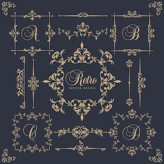 Marcos  ornamentales en estilo vintage